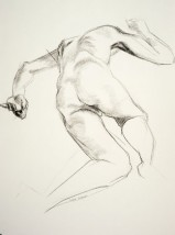 Drawing of a male nude lying down
